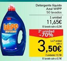 Oferta de Detergente líquido Azul WIPP por 11,65€