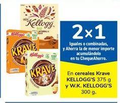 Oferta de En cereales Krave KELLOGG'S y W.K. KELLOGG'S por
