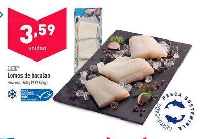 Oferta de Lomos de bacalao flete por 3,59€