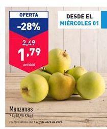 Oferta de Manzanas por 2.49€