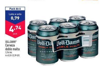Oferta de Cerveza Voll-Damm por 4,74€