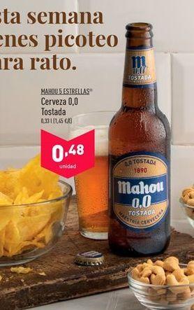 Oferta de Cerveza sin alcohol Mahou por 0,48€