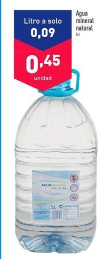 Oferta de Agua por 0.45€