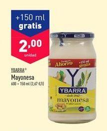 Oferta de Mayonesa Ybarra por 2€
