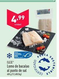 Oferta de Lomos de bacalao flete por 4,99€