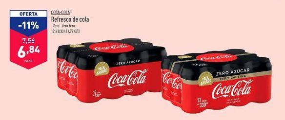 Oferta de Refresco de cola Coca-Cola por 7,56€