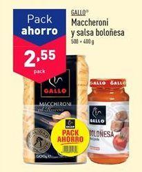 Oferta de Pasta Gallo por 2,55€
