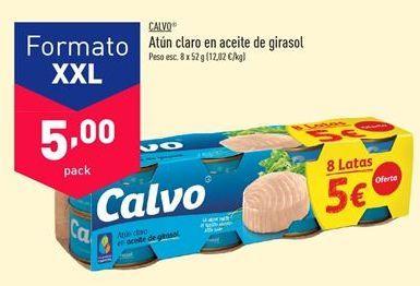 Oferta de Atún claro Calvo por 5€