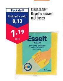 Oferta de Bayeta multiusos aldi por 1,19€