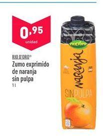 Oferta de Zumo de naranja Rio d'Oro por 0,95€