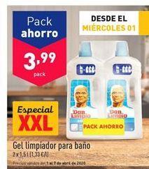 Oferta de Limpiador de baños Don Limpio por 3,99€