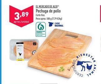 Oferta de Pechuga de pollo aldi por 3,89€