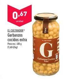 Oferta de Garbanzos cocidos El Cultivador por 0,67€