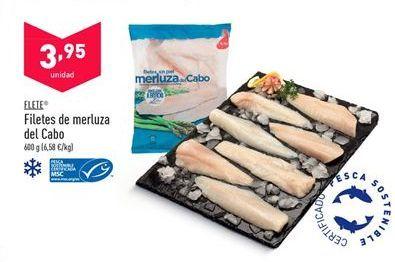 Oferta de Filetes de merluza flete por 3,95€