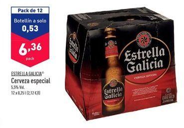 Oferta de Cerveza especial Estrella Galicia por 6,36€