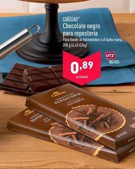 Oferta de Chocolate negro Chateu por 0,89€
