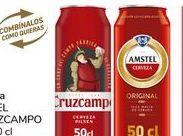 Oferta de Cerveza Amstel o Cruzcampo por 0,8€
