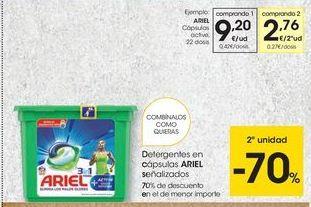 Oferta de Detergente en cápsulas Ariel por 9,2€