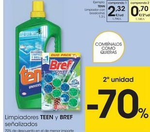 Oferta de Limpiadores Tenn por 2,32€