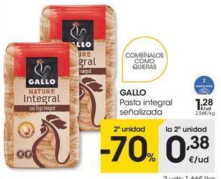 Oferta de Pasta integral Gallo por 1,28€