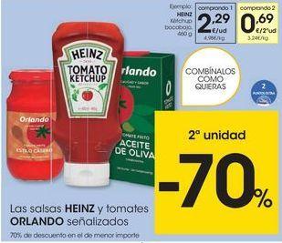 Oferta de Salsas Heinz por 2,29€