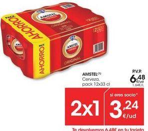 Oferta de Cerveza Amstel por 6,48€