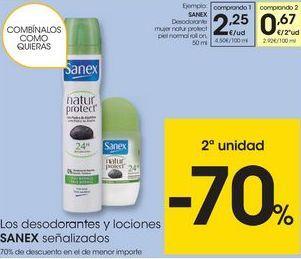 Oferta de Desodorante en spray Sanex por 2,25€