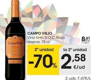 Oferta de Vino tinto Campo Viejo por 8,61€
