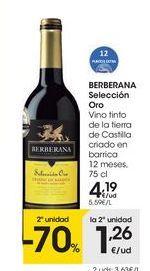 Oferta de Vino tinto Berberana por 4,19€