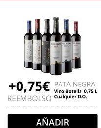 Oferta de Vino Pata Negra por
