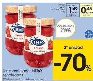 Oferta de Mermelada Hero por 1,49€