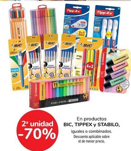 Oferta de En productos BIC, TIPPEX y STABILO por