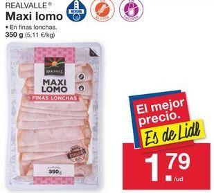 Oferta de Lomo de cerdo Realvalle por 1,79€