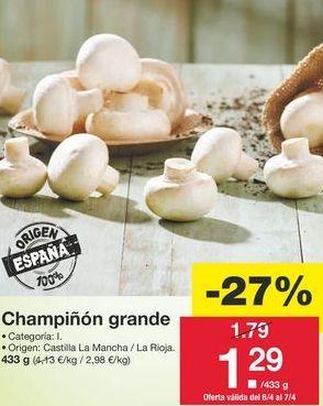 Oferta de Champiñones por 1,79€