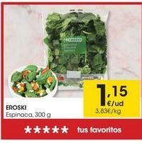 Oferta de Espinacas eroski por 1,15€