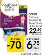 Oferta de Pañales Dodot por 22,49€