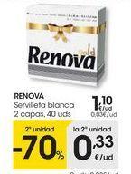 Oferta de Servilletas Renova por 1,1€