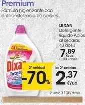 Oferta de Detergente gel Dixan por 7,89€