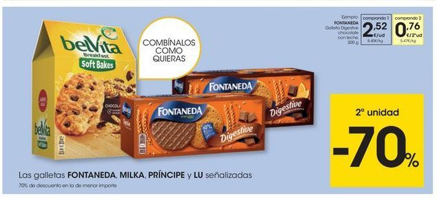Oferta de Galletas Fontaneda por 2,52€