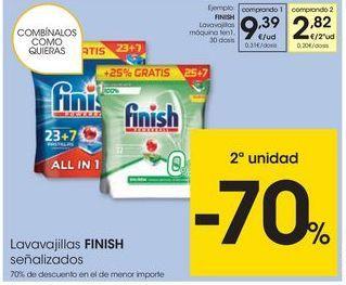 Oferta de Detergente lavavajillas Finish por 9,39€