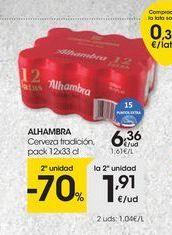 Oferta de Cerveza Alhambra por 6,36€