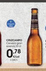Oferta de Cerveza Cruzcampo por 0,78€