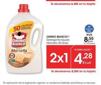 Oferta de Detergente Omino Bianco por 8,55€