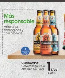 Oferta de Cerveza de trigo Cruzcampo por 1€