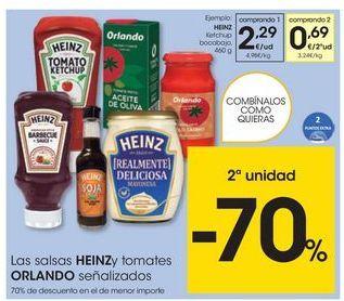 Oferta de Ketchup Heinz por 2,29€