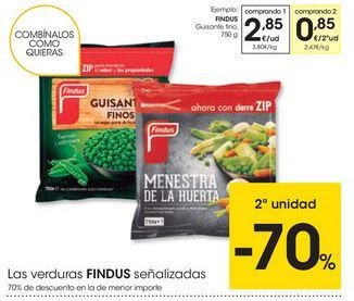 Oferta de Guisantes Findus por 2,85€