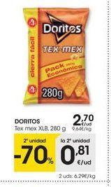 Oferta de Snacks doritos por 2,7€