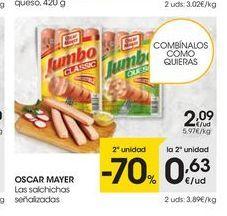 Oferta de Salchichas Oscar Mayer por 2,09€