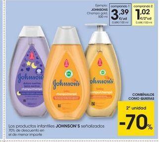 Oferta de Champú Johnson's por 3,39€