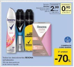 Oferta de Desodorante en spray Rexona por 2,99€